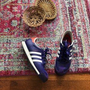 Adidas deep purple Samoa tennis shoes